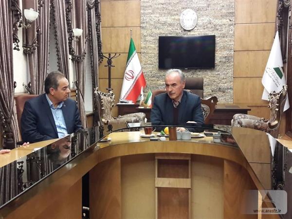 جلسه مدیران عامل منطقه آزاد ارس و بانک صادرات آذربایجان شرقی برگزار شد