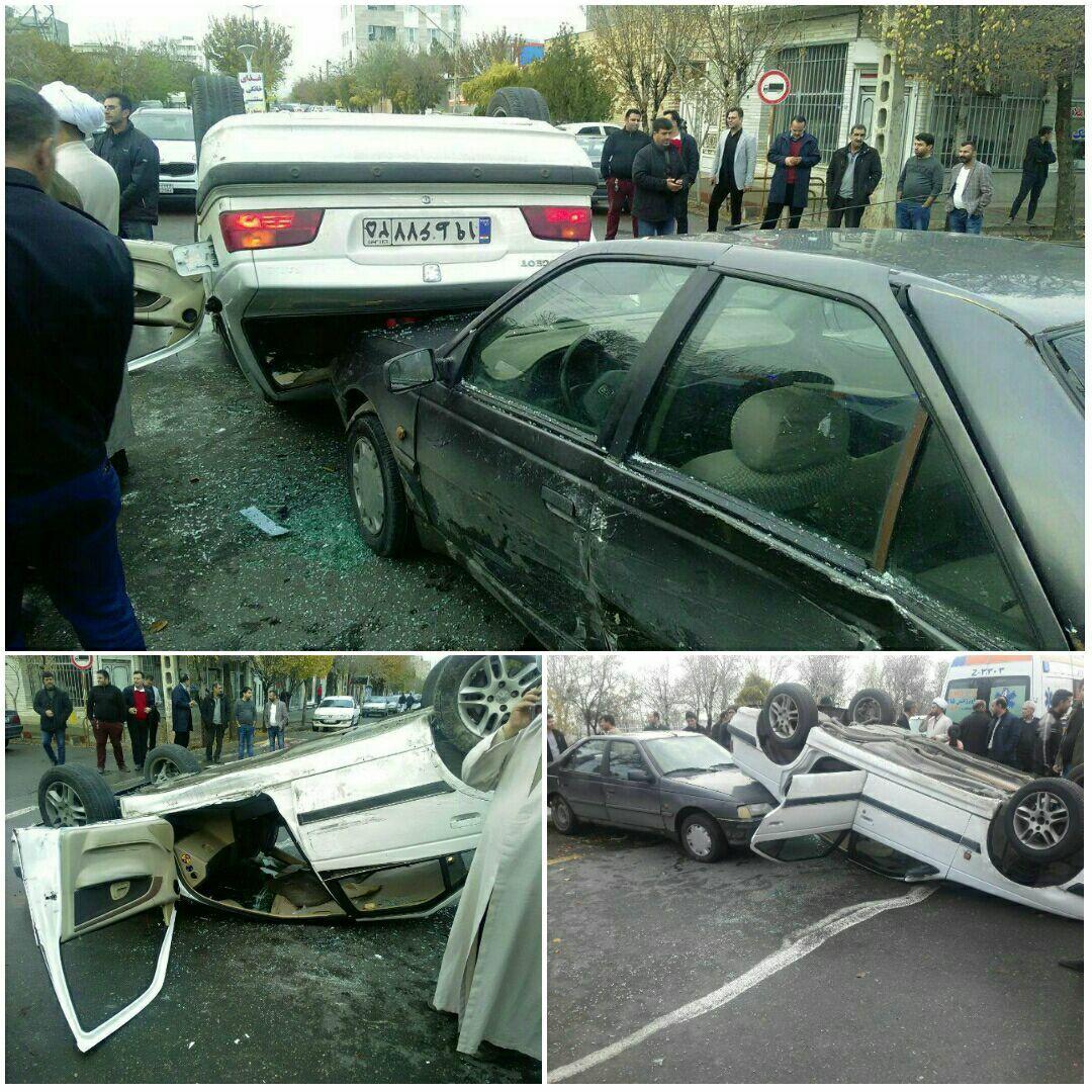 تصادف شدید خودروی امام جمعه شهر جلفا / حجت الاسلام سنجری راهی بیمارستان شد